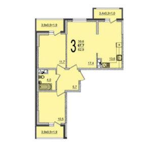 квартира в жилом комплексе грани